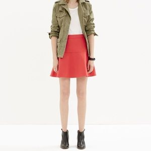 Madewell Wavelength Deep Red Peplum Skirt